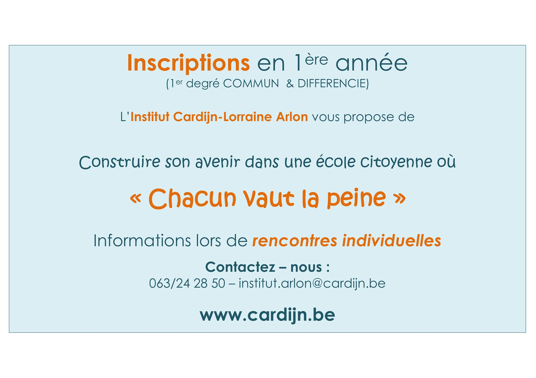 inscriptions 1ere